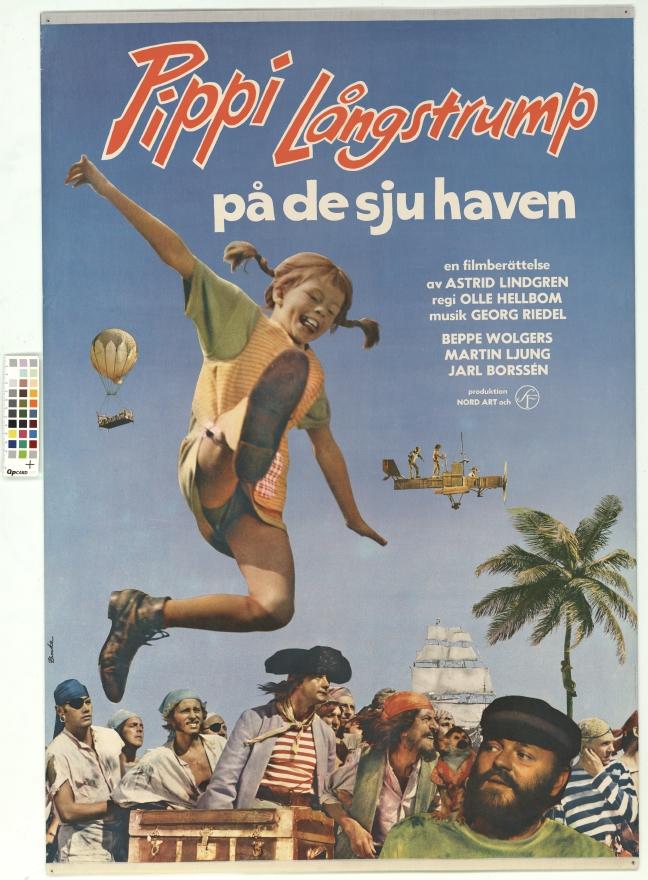 Pippi Långstrump på de sju haven. En filmberättelse av Astrid Lindgren. Barnfilm. Långfilm.