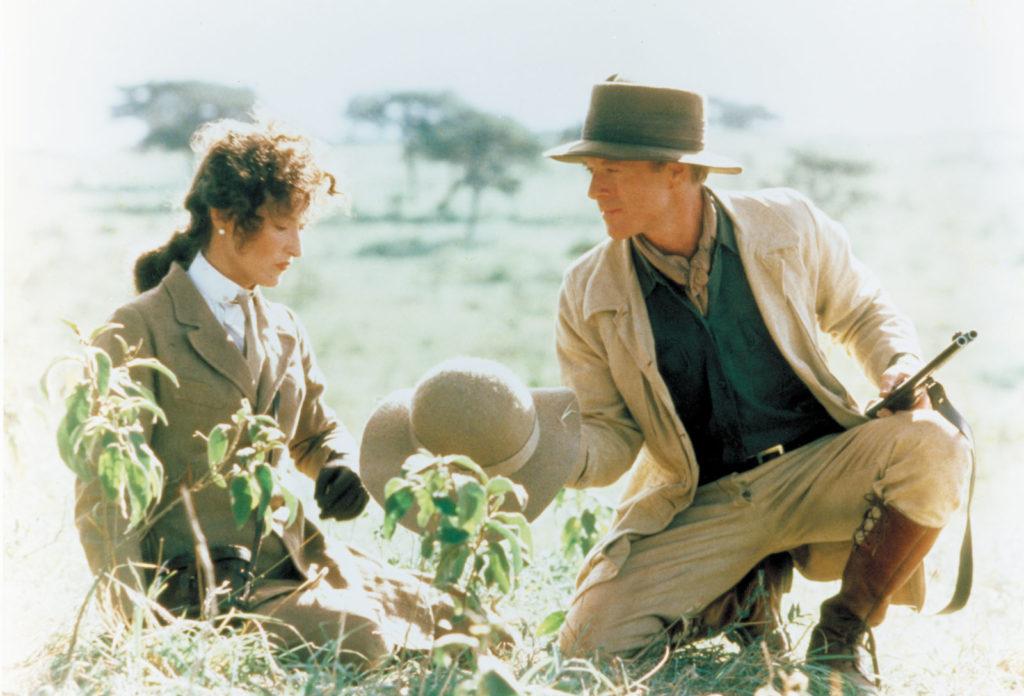 Meryl Streep och Robert Redford i filmen Mitt Afrika, om Karen Blixens liv.