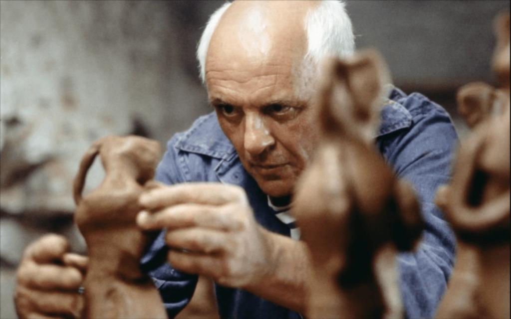 Anthony Hopkins i huvudrollen i biografi-filmen Min älskade Picasso.