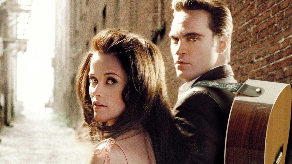 Joaquin Phoenix och Reese Whiterspoon som Johnny Cash och June Carter i filmen Walk the Line.