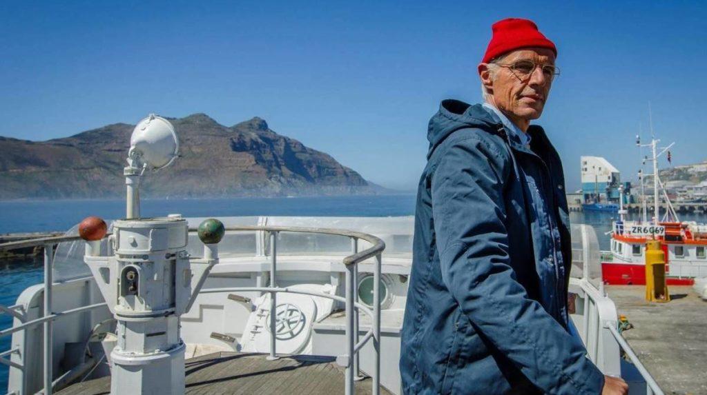 Lambert Wilson som Jacques Cousteau i en biografisk film - The Odyssey.