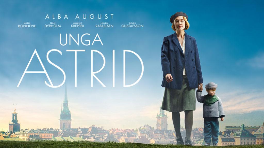Alba August i rollen som Astrid Lindgren i filmen Unga Astrid.