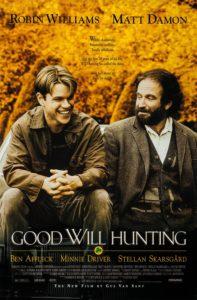 Filmen Good Will Hunting med Robin Williams och Matt Damon.