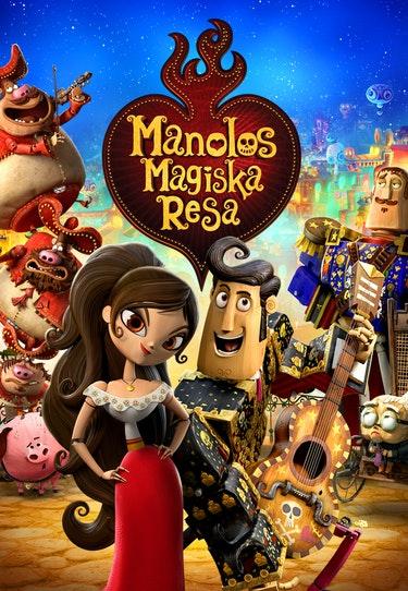 Filmen The Book of Life - Manolos magiska resa. En bra halloweenfilm för barn.