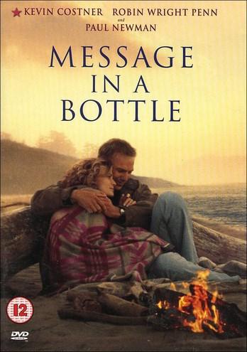 Filmen Message in a bottle (Kärleksbrev) med Robin Wright Penn och Kevin Costner.