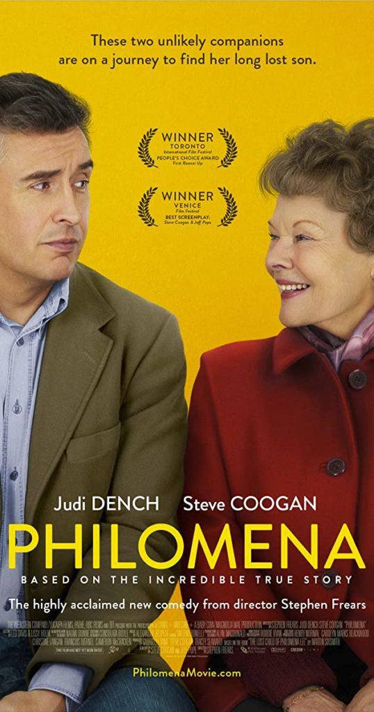 Filmen Philomena med Judi Dench i huvudrollen.